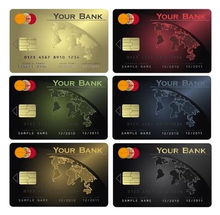 vector Credit card Colors