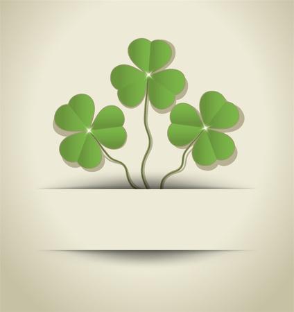 St. Patrick Day Shamrock card paper raster