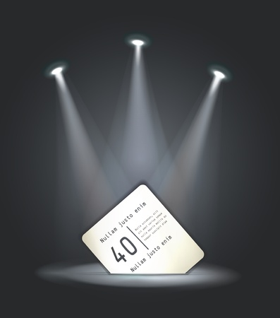 vector reflector light paper card