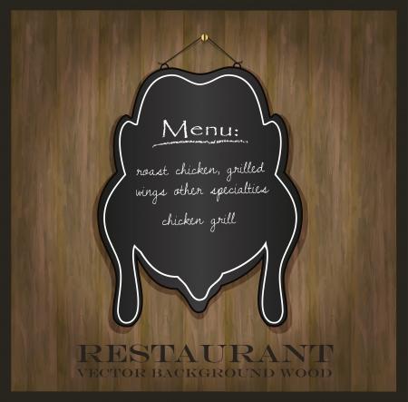 blackboard chicken restaurant menu card