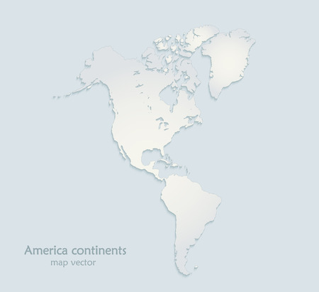 Map Of America 3d Vector.America Continents Map Blue White Paper 3d Vector Royalty Free