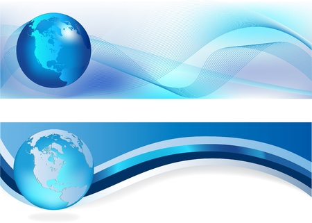 Heades width abstract blue background for company style design