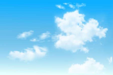 Illustration pour Background with clouds on blue sky. Blue Sky vector - image libre de droit