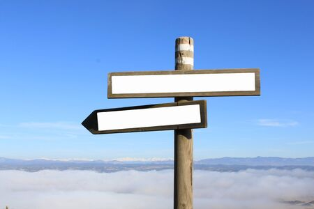 Photo for two signs indicating the way to anywhere - Royalty Free Image