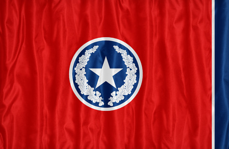 Chattanooga ,Tennessee flag pattern on fabric texture,retro vintage style