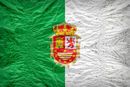 Fuerteventura flag pattern overlay on floyd of candy shell, vintage border style