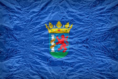 Badajoz flag pattern overlay on floyd of candy shell, vintage border style
