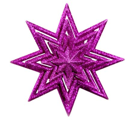 Isolated purple star on white