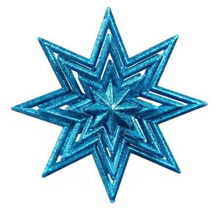Isolated blue star on white