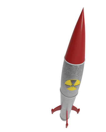 nuclear warhead model in retroy style with clipping mask