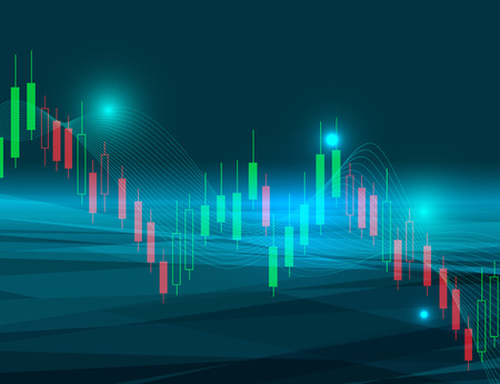 stock market chart vector illustration background represent down trend of stock market