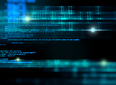 Photo pour Programming code abstract technology background of software developer and  Computer script - image libre de droit