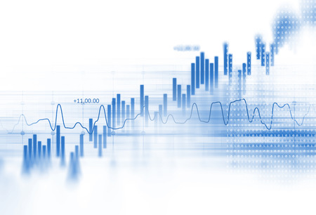 Foto de financial graph on technology abstract background represent financial crisis,financial meltdown - Imagen libre de derechos