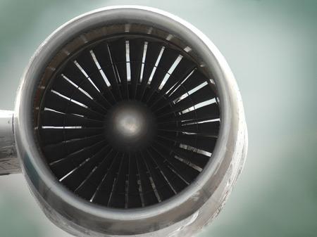 Photo pour close up of airplane turbine - image libre de droit