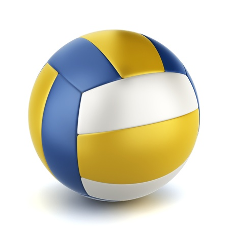 Volleyball' ball. 3d illustration on white background
