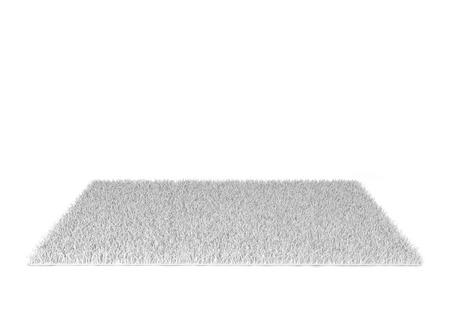 Shaggy carpet. 3d illustration isolated on white background