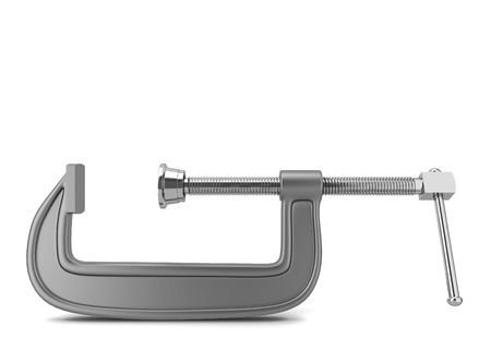 C clamp. 3d illustration isolated on white background