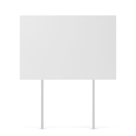 Foto de Blank yard sign. 3d illustration isolated on white background - Imagen libre de derechos