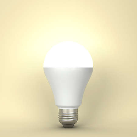 Photo for Led light bulb. 3d illustration - Royalty Free Image