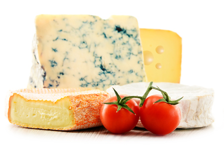 Photo for Different sorts of cheese isolated on white background. - Royalty Free Image