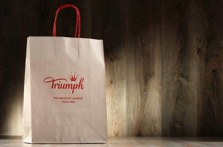 Photo pour POZNAN, POLAND - NOV 2, 2016: Triumph International is an underwear manufacturer founded in Germany but headquartered in Bad Zurzach Switzerland since 1977 with branches in 50 countries. - image libre de droit