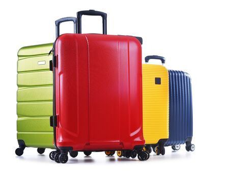 Photo pour Travel suitcases isolated on white background. - image libre de droit