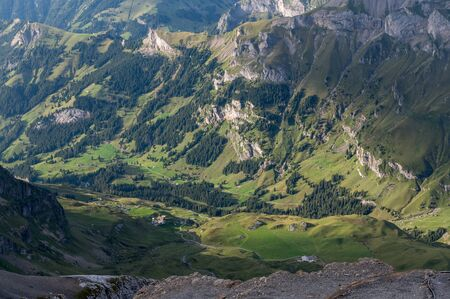 valley view of Kiental on a summer afternoon
