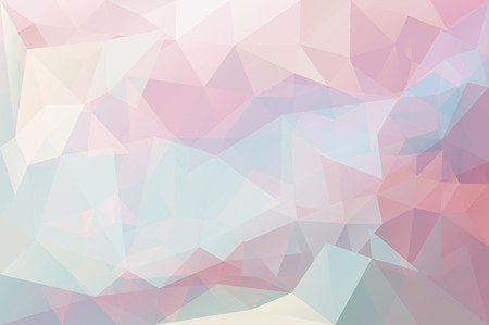 Vector triangle mosaic background with transparencies in pastel colors