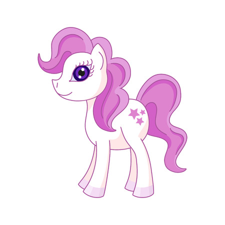 Vector illustration of cute horse