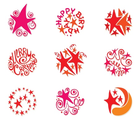 A collection of festive stars