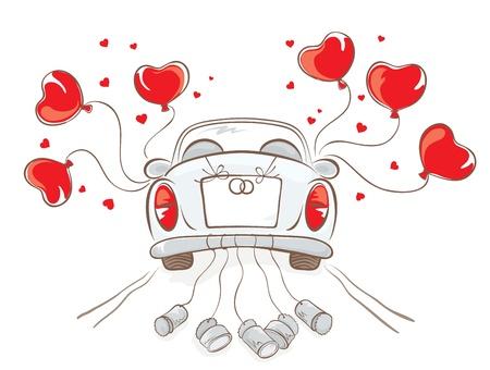 Illustration pour Wedding car  - image libre de droit