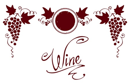 Set of elements for a wine label