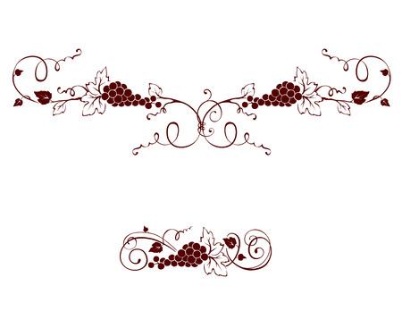 Set of design elements -- grape