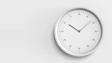 Foto de White wall clock in the office, 3D rendering - Imagen libre de derechos