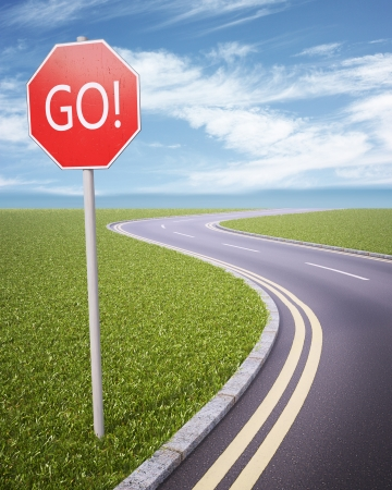 GO! road sign
