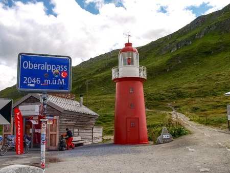 Swiss Alps, Switzerland: tour on the six passes, Lighhause on the pass of Oberalp