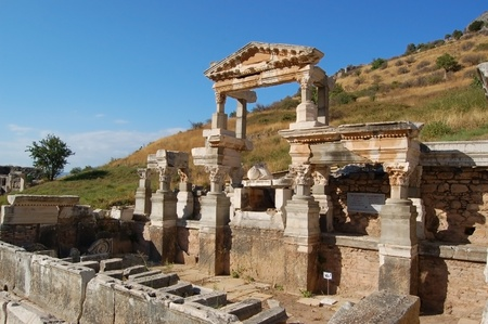 Antique city of Ephesus, Turkey. Ephesus was an ancient Greek city on the west coast of Anatolia, in the region known as Ionia during the Classical Greek period. It was one of the twelve cities of the Ionian League.