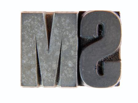 Lead: two old letterpress type