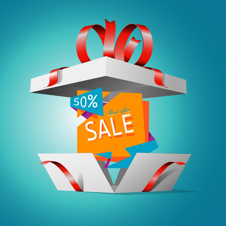 Special offer in a gift box. Gift coupon