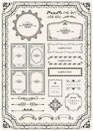 Illustration for Antique Frame Set - Royalty Free Image
