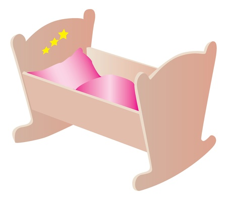 Wooden cradle illustration