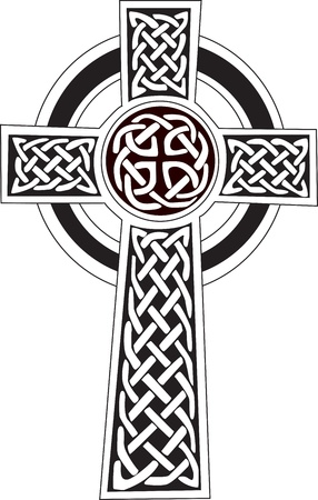 Complex Celtic cross symbol great for tattoo  Can be fully modified and scaled  Vector, can easily change it s colors