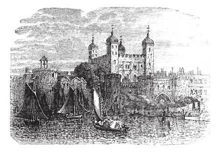 Tower of London or Her Majestys Royal Palace and Fortress in London England during the 18
