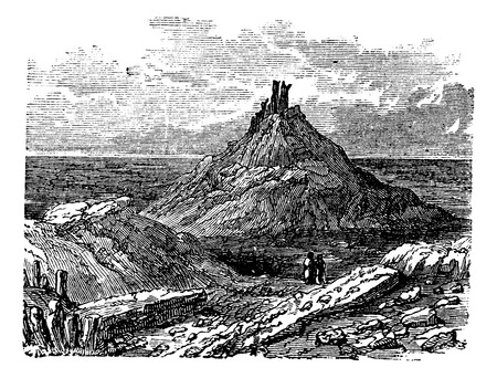 Borsippa or Birs Nimrud in Babil Iraq during the 1890s vintage engraving. Old engraved i