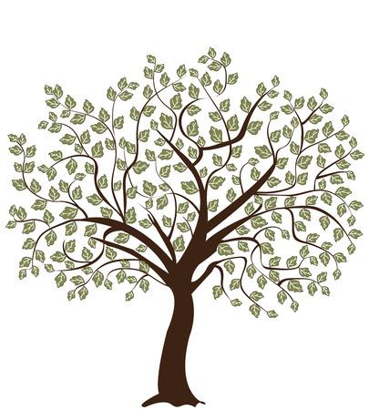 Illustration pour Tree silhouette - image libre de droit