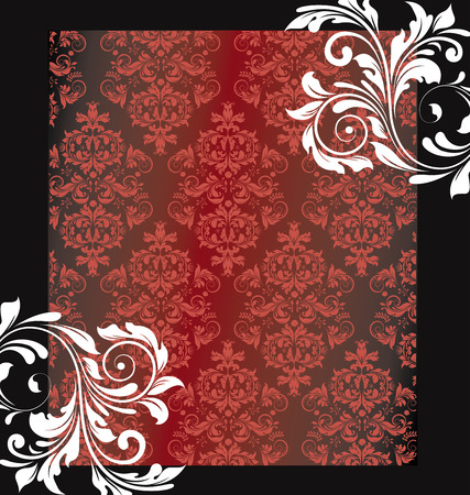 Vintage Invitation Card With Ornate Elegant Abstract Floral