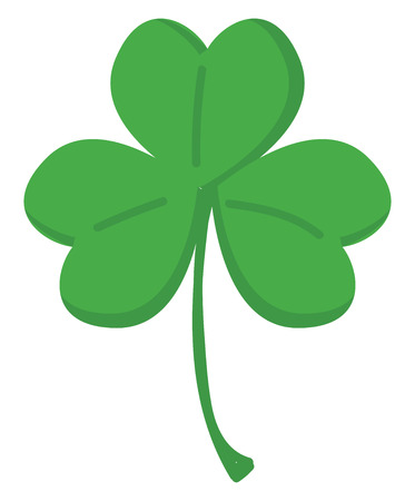 Illustration pour Green clover with three leafs vector illustration on white background. - image libre de droit
