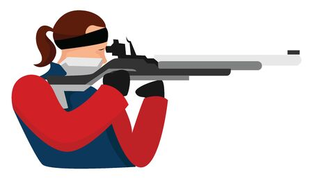 Bullseye shooting, illustration, vector on white background.