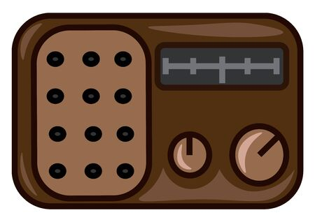 Illustration pour An old radio with a single speaker in blue color, vector, color drawing or illustration. - image libre de droit