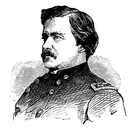 Alexander McDowell McCook 1831 to 1903 he was a career United States army officer and union general in the American civil war vintage line drawing or engraving illustration